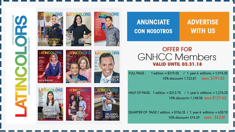 Latincolors Magazine Discounts March 2018