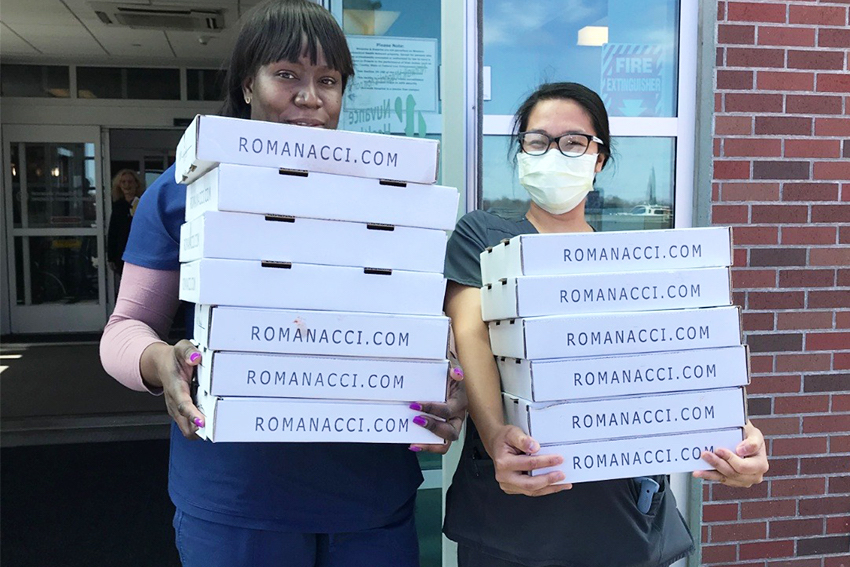 Romanacci Provides Free Meals to Essential Workers