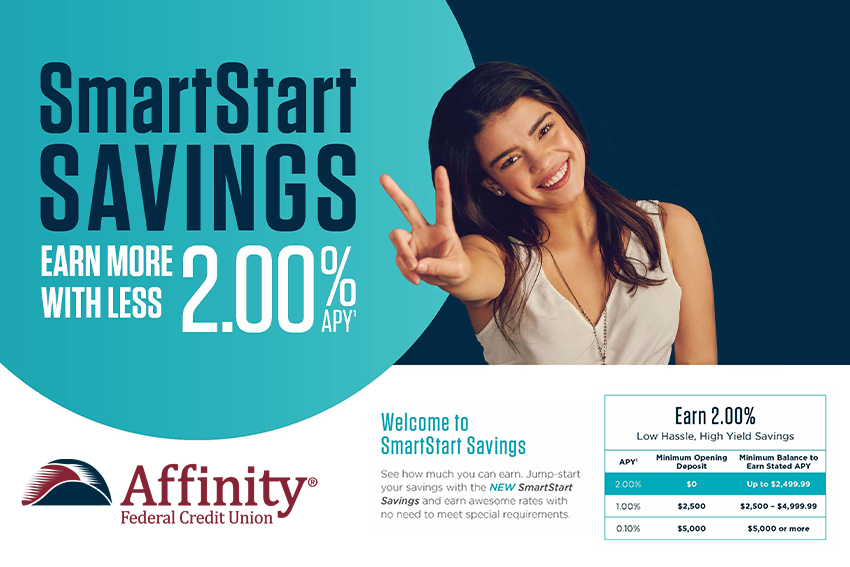 Affinity Launches SmartStart High Yield Savings for Low Balances