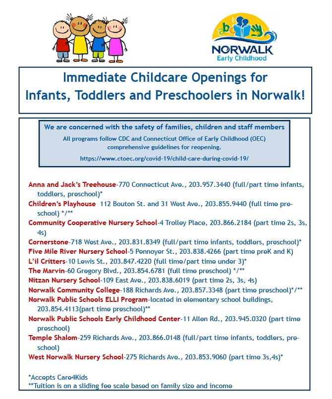 Norwalk Child Care Openings