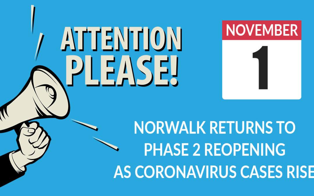 Norwalk Returns To Phase 2 Reopening As Coronavirus Cases Rise