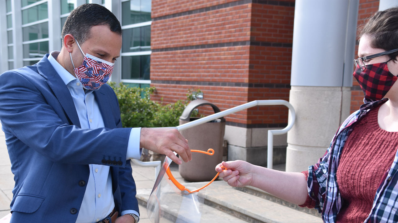 NCC's Makerspace Supplies Face Shields to the Greater Norwalk Hispanic Chamber of Commerce