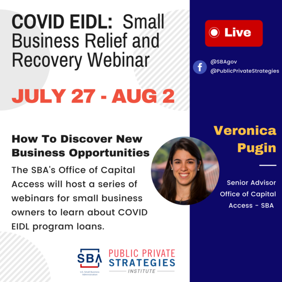 COVID EIDL- Small Business Relief & Recovery Webinar